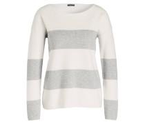 Pullover - hellgrau/ offwhite gestreift