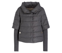 Steppjacke - grau metallic