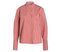 Bluse - bordeaux/ rosé gestreift
