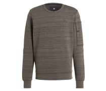 Sweatshirt STALT - dunkelgrün meliert