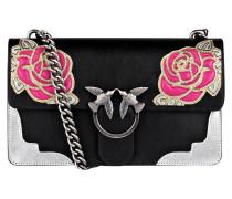 Umhängetasche - schwarz/ rosa
