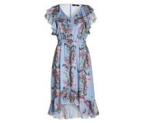 Kleid - hellblau/ grün/ violett