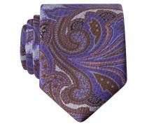 Krawatte - lila/ ocker