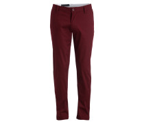Chino Slim-Fit - weinrot