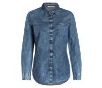 Bluse in Jeansoptik - blau