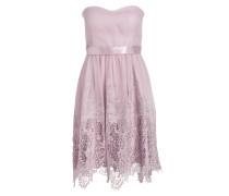 Bandeau-Kleid mit Spitzenbesatz