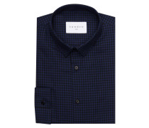 Hemd Slim-Fit - blau/ schwarz kariert