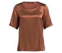 T-Shirt im Materialmix - kupfer