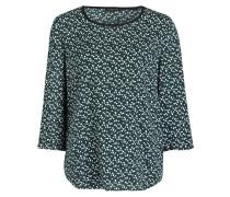 Blusenshirt - dunkelgrün/ offwhite