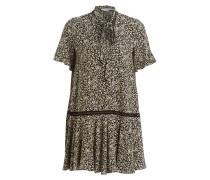 Kleid - creme/ schwarz