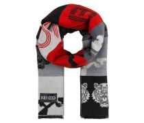 Schal - schwarz/ rot/ weiss/ grau