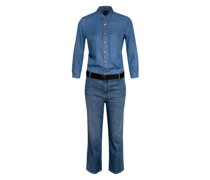 Jeans-Jumpsuit mit 3/4-Arm