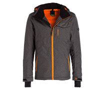 Snowboard-Jacke MABERTO - grau/ orange