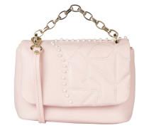 Umhängetasche mit Perlenbesatz - rosa