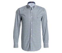 Hemd Regular-Fit - dunkelblau/ weiss/ grün