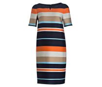 Kleid PATTY-2 - dunkelblau/ beige/ orange