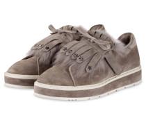 Sneaker COOL mit Fellbesatz - hellgrau