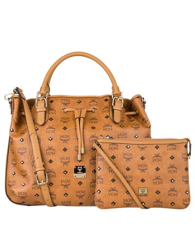 Handtasche GOLD VISETOS SMALL - cognac
