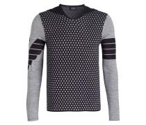 Pullover mit Kapuze - dunkelblau/ grau