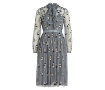 Kleid DITSY - graublau/ creme/ navy