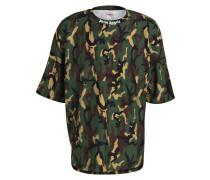 T-Shirt - khaki/ oliv/ schwarz