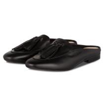 Slipper mit Tassel - schwarz