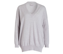 Cashmere-Pullover - grau meliert