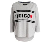 Oversized-Sweatshirt - grau meliert