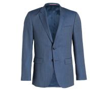 Kombi-Sakko Slim-Fit - blau meliert