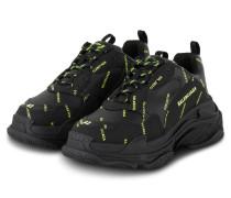Sneaker TRIPLE S - SCHWARZ/ NEON GELB