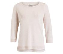Pullover mit Leinenanteil - beige