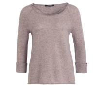 Pullover mit 3/4-Arm - taupe meliert