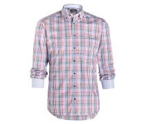 Hemd Slim-Fit - blau/ rosa/ khaki kariert