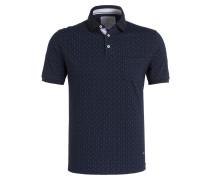Piqué-Poloshirts - blau