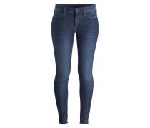 Skinny-Jeans HALLE - coral blue denim