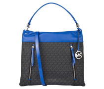 Schultertasche LEX - black/ electric blue