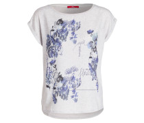 T-Shirt - hellgrau/ blau