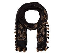 Schal mit Tasseln - schwarz