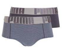 2er-Pack Panties - schwarz/ hellblau/ grau