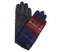 Lederhandschuhe - blau/ rot