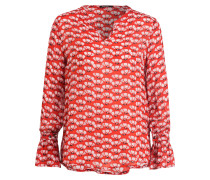 Bluse mit Seidenanteil - rot