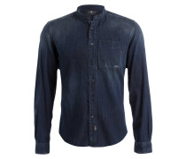 Jeanshemd mit Stehkragen - db dark blue