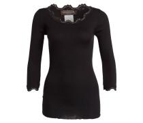 Shirt mit Seidenanteil - schwarz