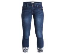 7/8-Jeans mit Perlenbesatz