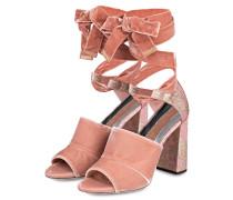 Samt-Sandaletten - rosa