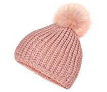 Mütze mit Echtpelz-Bommel