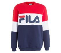 Sweatshirt - rot/ weiss/ dunkelblau