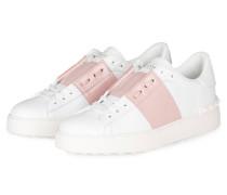 Sneaker OPEN - weiss/ rosé