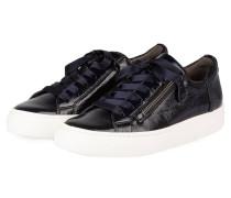 Lack-Sneaker - dunkelblau
