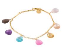 Armband BRIOLETTE - gold/ pink/ türkis